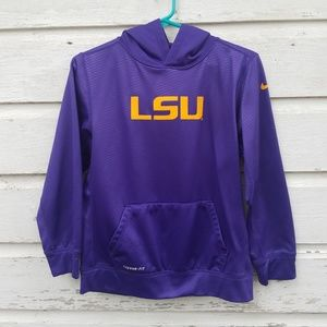Nike LSU Purple Therma-fit Sweatshirt Hoodie